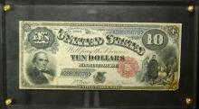 1880 Large Size $10.00 United States Note