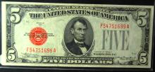1928c $5.00 United States Note