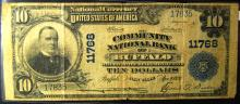 1902 Series Large size National $10.00 Buffalo NY