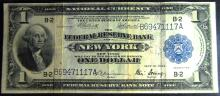 1918 Series Large Size National $1.00 New York