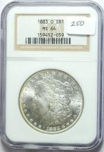 1883-O Morgan Silver Dollar MS-64 NGC