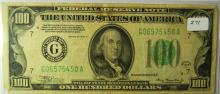 1934a $100.00 Federal Reserve Note