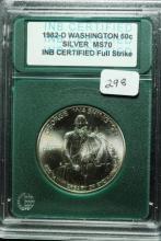 1982-D George Washington Silver Half BU