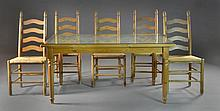 (6) Italian Ceramiche Nicola Fasano Table & Chairs