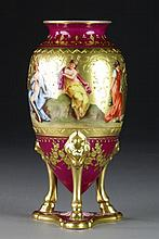 A Royal Vienna Gilt Porcelain Portrait Vase