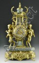 Brass and Marble  Louis XIV-style Mantle Clock