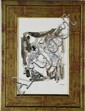 Signed Jules Pascin Watercolor & Ink on Paper