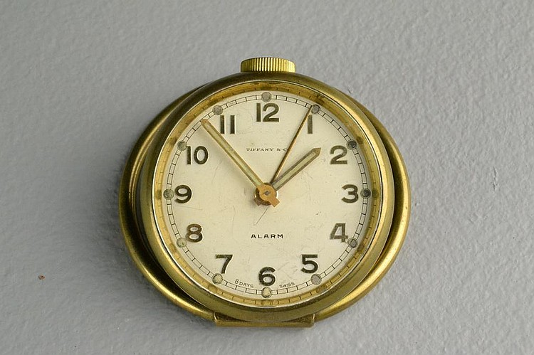 Antique Tiffany Travel Alarm Clock