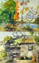 (2) Davis Francis Schwartz Watercolor Paintings