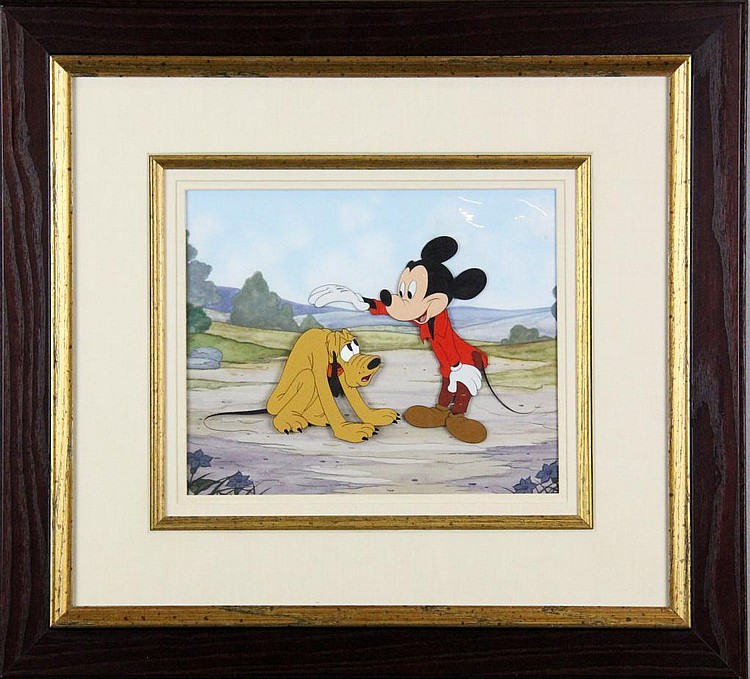 1946 & 1948 Original Pluto & Mickey Mouse Cel