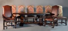 (10) Pc Castlegate Trestle Dining Table & Chairs