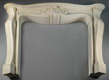 French Louis XV Style Carved Stone Mantle