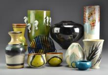 (11) Pcs Swiss & Continental Pottery
