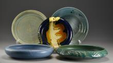 (5) Art Pottery Basins