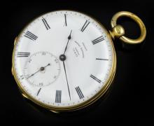 18K French Royal Exchange Skeletonized Pocket Watch