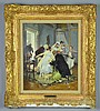 A Franz Xaver Simm Oil Painting on Board