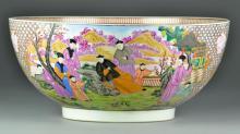 Large & Impressive Chinese Famille Rose Bowl