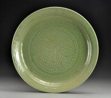 A Chinese Ming Style Celadon Porcelain Basin