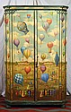 French Hand Painted Armoire