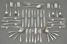 (41) Pcs Heirloom Sterling Silver Flatware