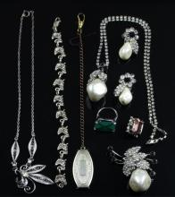 (9) Pcs Sterling & Costume Jewelry