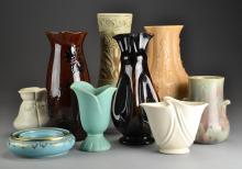 (9) Pcs American Pottery, Inc. Weller & Royal Haeger