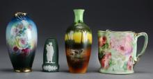 (4) Pcs Continental Porcelain
