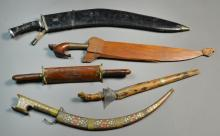 (5) Antique Indian & Middle Eastern Bladed Weapons