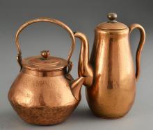 (2) Unusual Asian Brass Teapots