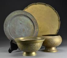 (4) Pcs Asian Brass