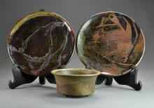(3) Pieces John Glick Pottery