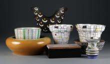(8) Pcs Mid Century Italian Ceramics, Inc. Raymor