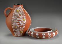 (2) Pcs Mid Century Ceramics, Inc. Carstens