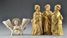 (2) Pcs Continental Porcelain Nodding Figurines