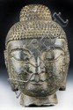 Chinese Carved Schist Stone Head