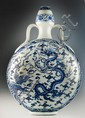 Large & Impressive Chinese Blue & White Moonflask