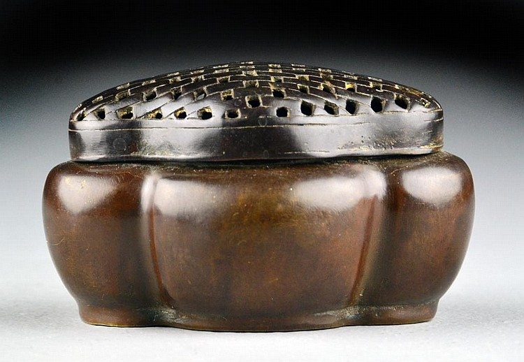 Small Chinese Bronze Hand Warmer