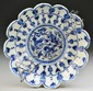 Chinese Ming Style Blue & White Porcelain Plate