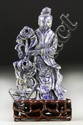 Chinese Soda Lite Figural Carving On Rosewood Stand