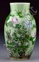 Chinese Qing Famille Rose Over Celedon Porcelain Vase