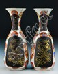 Pr. Unusual Japanese Porcelain Vases-Meiji Period