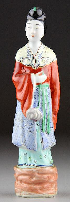 Chinese Famille Rose Porcelain Figurine