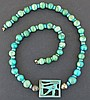 EGYPTIAN FAIENCE WEDJAT EYE NECKLACE 3rd Int. Period