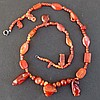 EGYPTIAN CARNELIAN AMULET NECKLACE New Kingdom