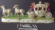 DRESDEN HORSE & CARRIAGE FIGURAL GROUP