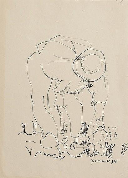 Giovanni Omiccioli (Roma, 1901 - 1975) Contadino,