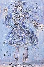Eugene Berman (San Pietroburgo 1899 - Roma 1972) Giselle, 1946