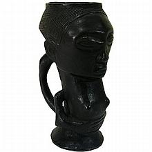 Kuba Anthropomorphic palm wine cup