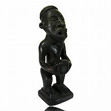 Kongo Standing male fetish figure