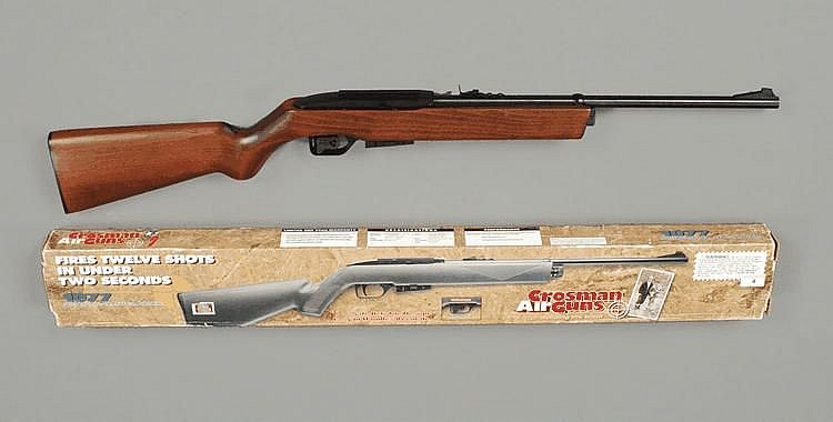 A Crossman 1077 .177 semi-automatic CO2 powered